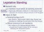 legislative standing