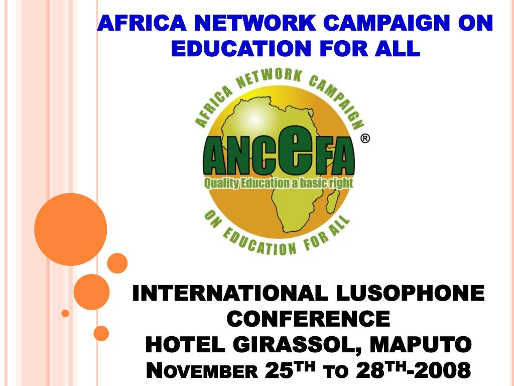 africa network campaign on education for all l.