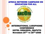 africa network campaign on education for all