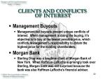 clients and conflicts of interest22
