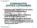 comparative justice categories