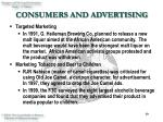 consumers and advertising