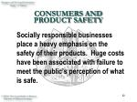consumers and product safety