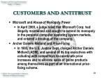customers and antitrust