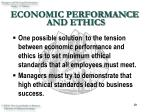 economic performance and ethics