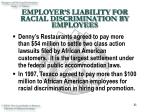 employer s liability for racial discrimination by employees