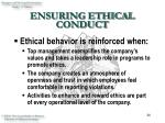 ensuring ethical conduct