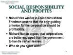 social responsibility and profits