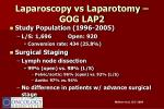 laparoscopy vs laparotomy gog lap2