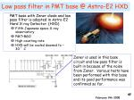 low pass filter in pmt base @ astro e2 hxd