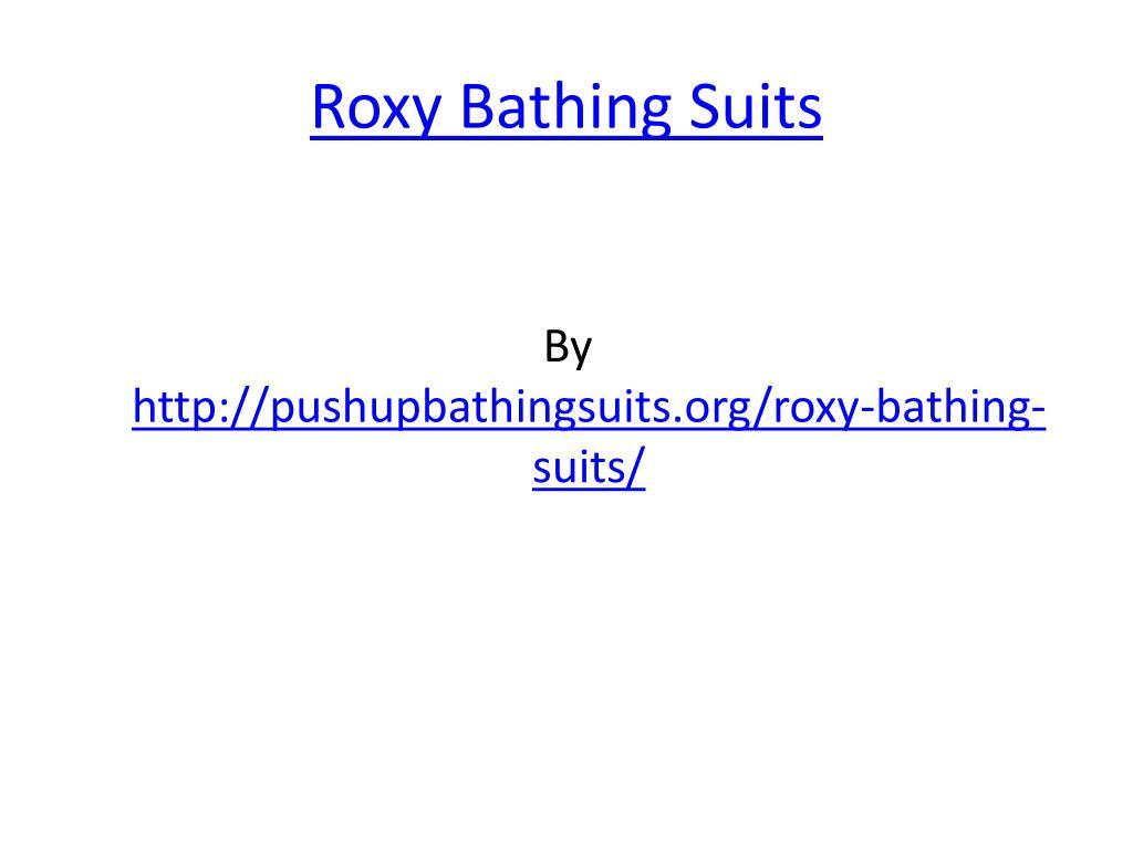roxy bathing suits l.