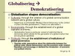 globalisering demokratisering