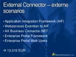 external connector externe scenarios