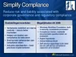 simplify compliance1