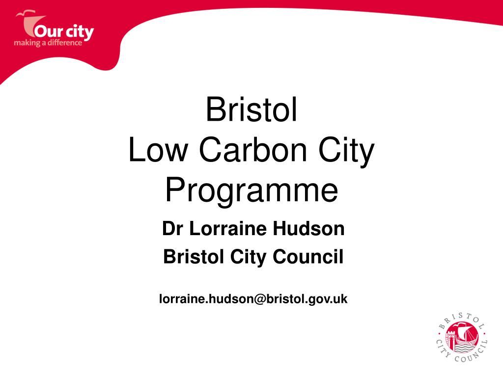 bristol low carbon city programme l.