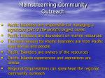 mainstreaming community outreach