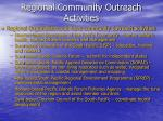 regional community outreach activities