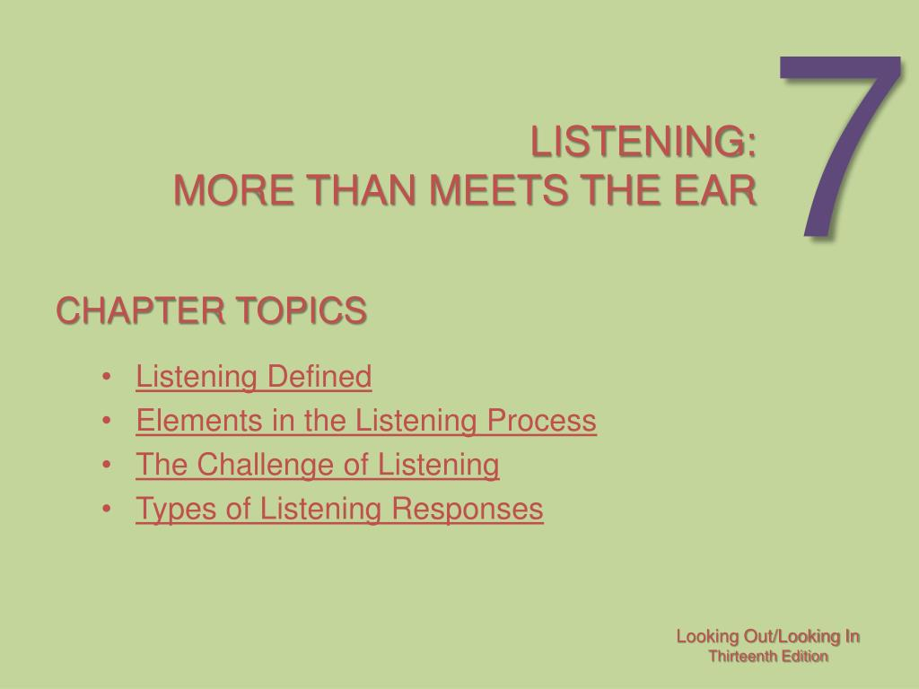 listening more than meets the ear l.