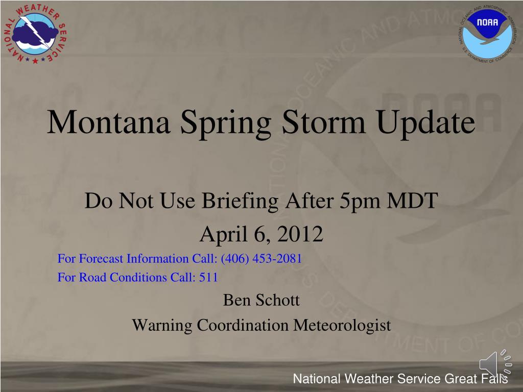 montana spring storm update l.