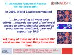 1 achieving universal access will be impossible