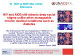7 hiv is not like other diseases