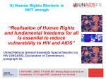9 human rights rhetoric is not enough