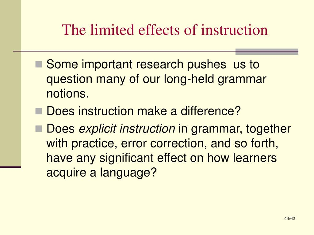 The limited effects of instruction