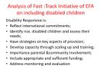 analysis of fast track initiative of efa on including disabled children