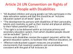 article 24 un convention on rights of people with disabilities