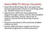 some non fti african countries