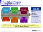 the intelligrid program laying the foundation