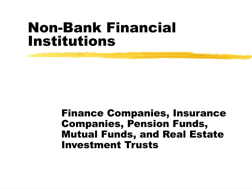 non bank financial institutions l.