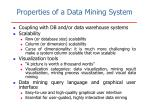 properties of a data mining system