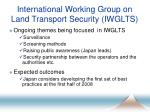 international working group on land transport security iwglts10