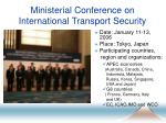 ministerial conference on international transport security