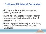 outline of ministerial declaration5