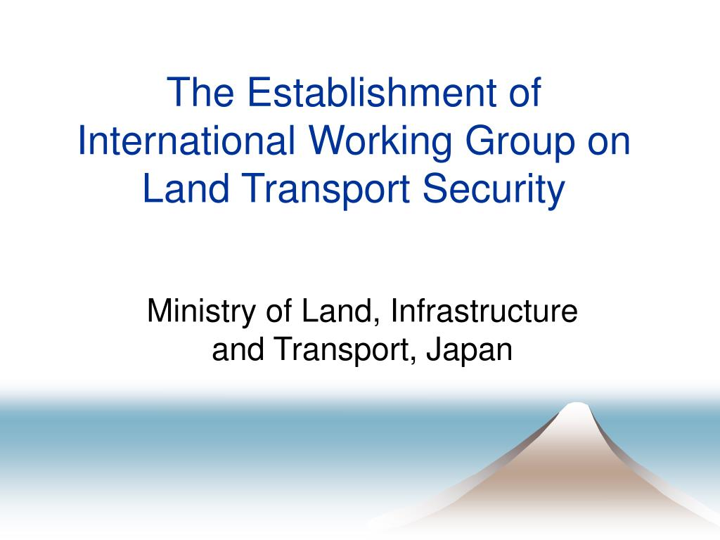 the establishment of international working group on land transport security l.