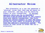 alternator noise