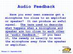 audio feedback