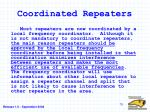 coordinated repeaters