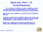 dealing part 15 interference
