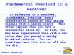 fundamental overload in a receiver