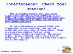 interference check your station
