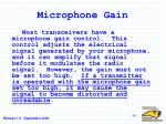 microphone gain