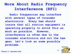 more about radio frequency interference rfi