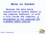 more on packet