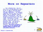 more on repeaters