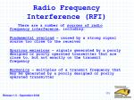 radio frequency interference rfi