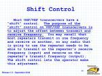 shift control
