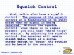 squelch control